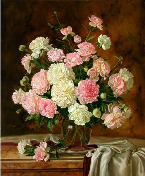 цветы, стол, ваза