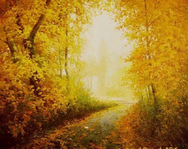Красивое как нарисовать горящий лес