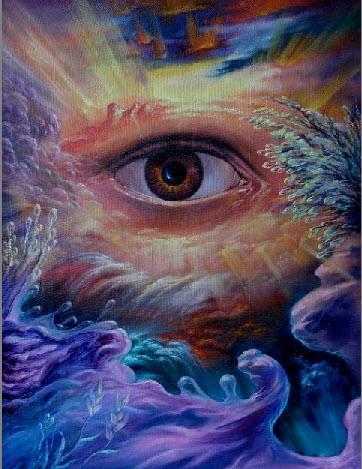 Глаз всевидящий 500 холст масло 40х60