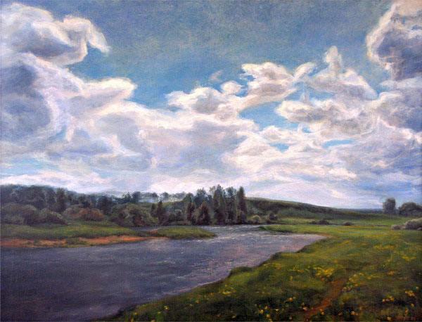 Пейзаж с озером шишкин проект пейзаж