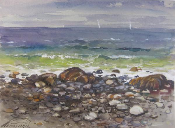Пейзаж моря рисунки