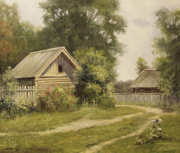 Лето дом полдень деревья
