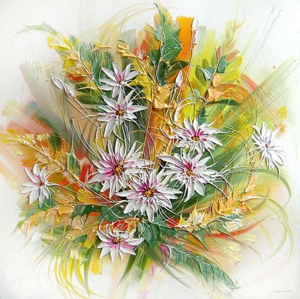 Натюрморт букет осенние цветы