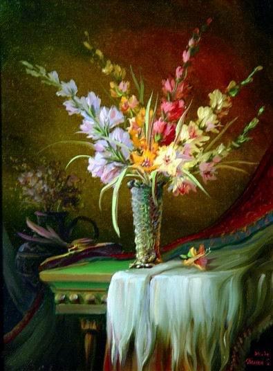 гладиолусы в живописи: