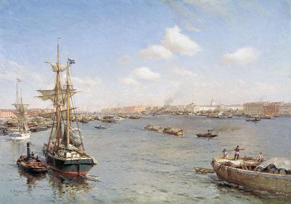 петербург корабль нева река