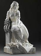 A figure of the seated Cleopatra, circa 1880
