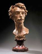 A bust of Jean-Leon Gerome
