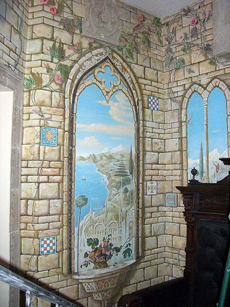 художественная роспись стен фото.