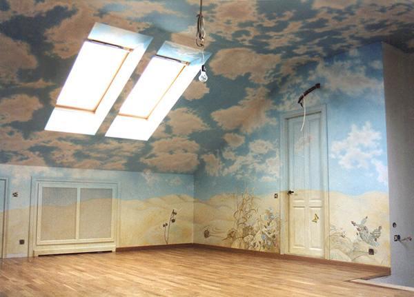 Роспись стен роспись потолка