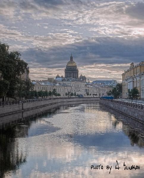 Город санкт петербург раннее утро