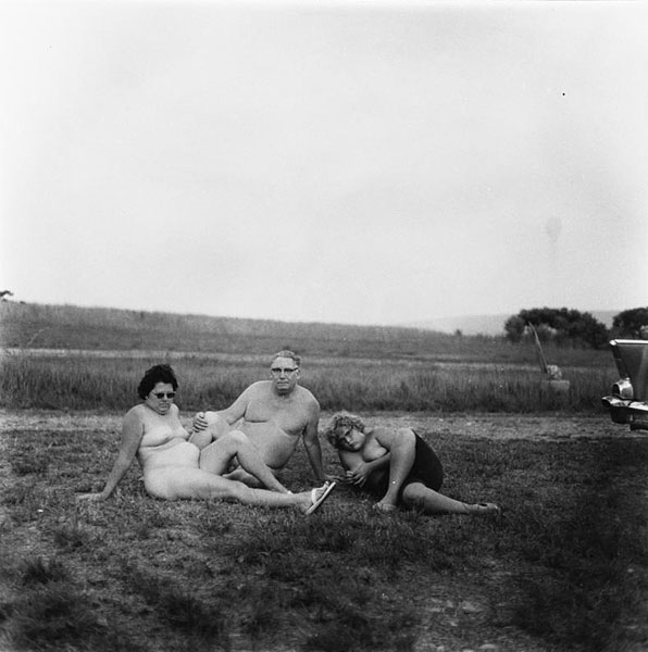 Retro Nudist Family