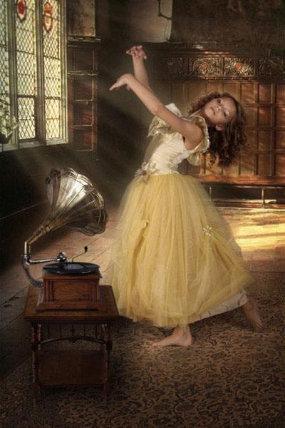 девочка, танец, музыка
